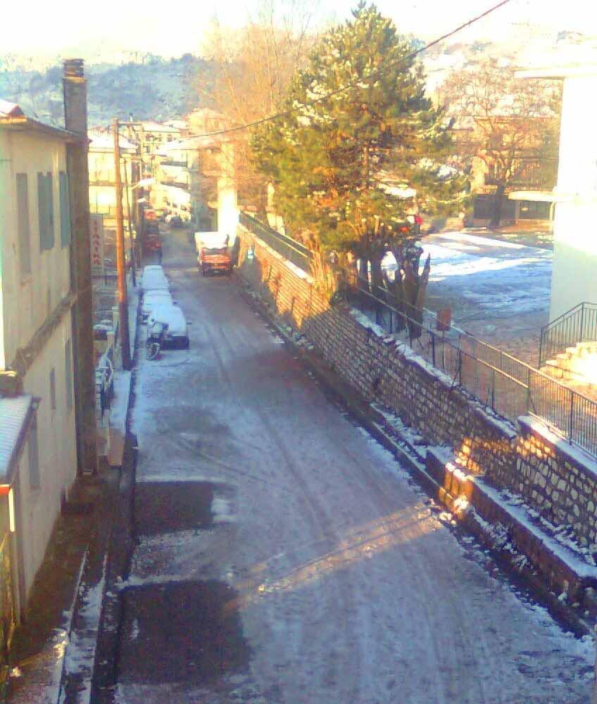 Παγωμένοι η δρόμοι στο Καρπενήσι με την θερμοκρασία στους -1 βαθμούς